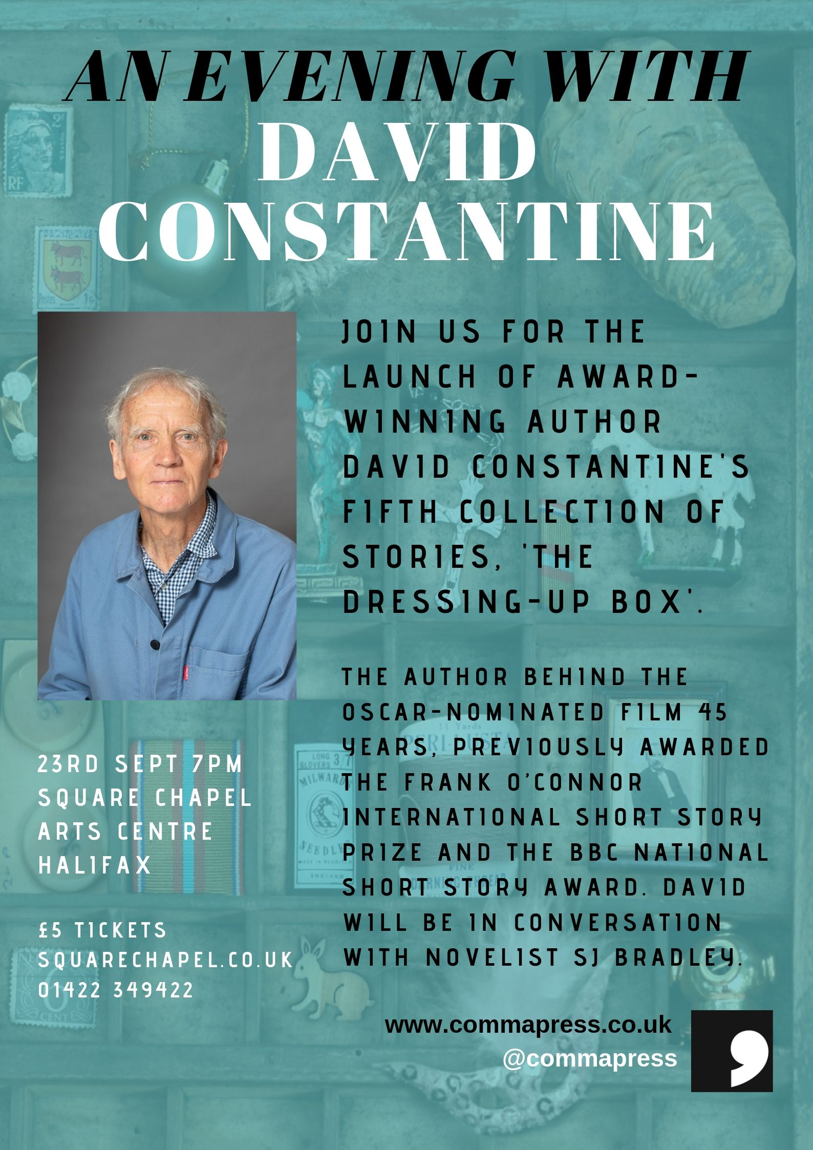 An evening with David Constantine at Square Chapel