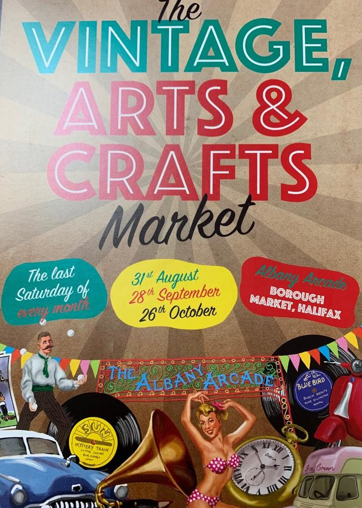 Vintage Arts Crafts Market at Halifax Borough Market