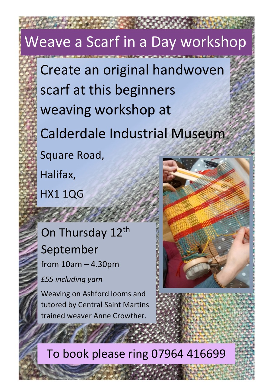 Weave a Scarf. 12 Sept 2019 calderdale industrial museum