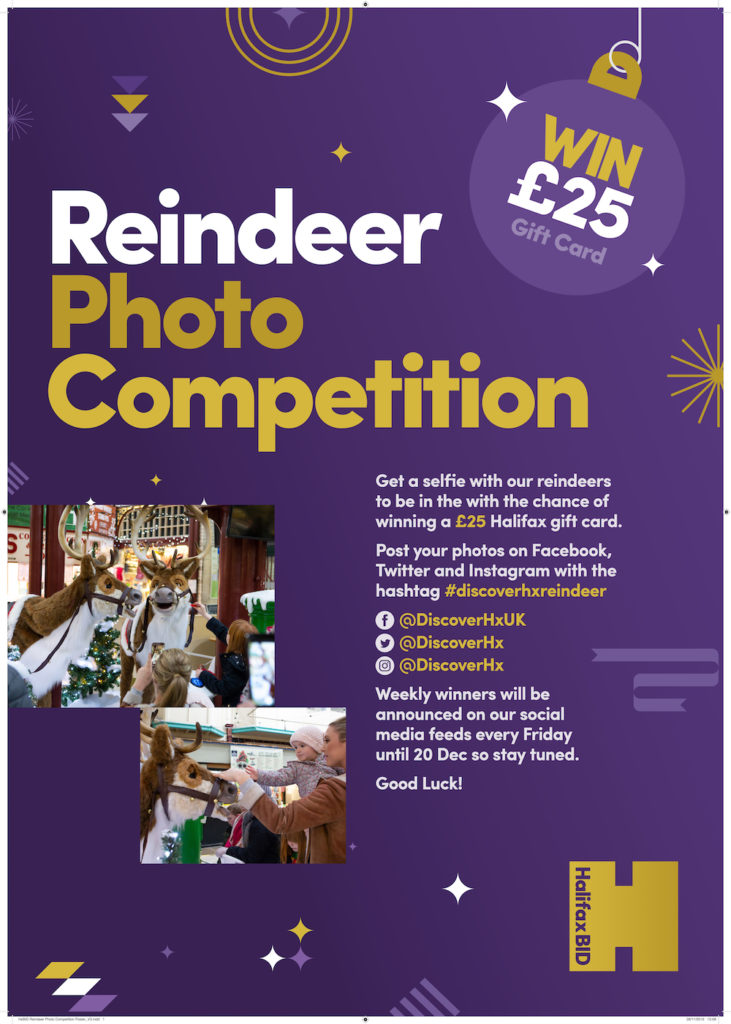 HxBID Reindeer Photo Competition Poster