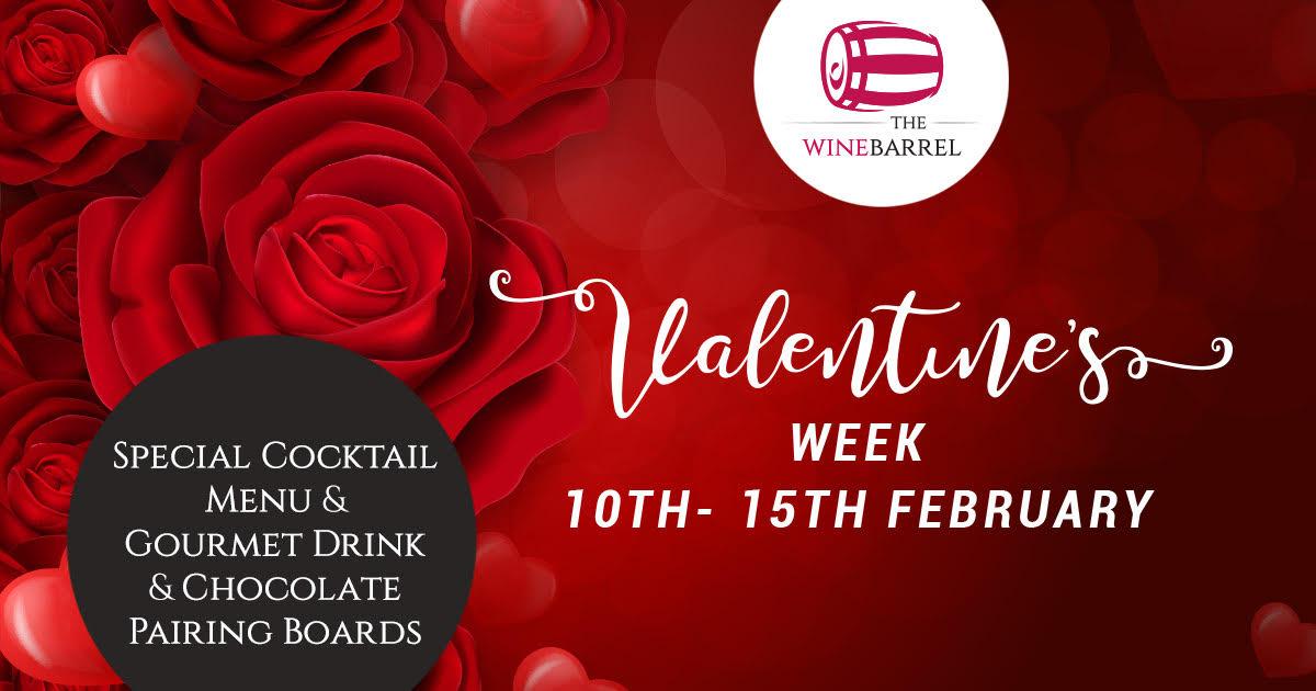 valetines week at wine barrel at piece hall
