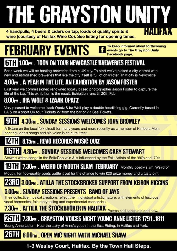 Grayston Unity February Events