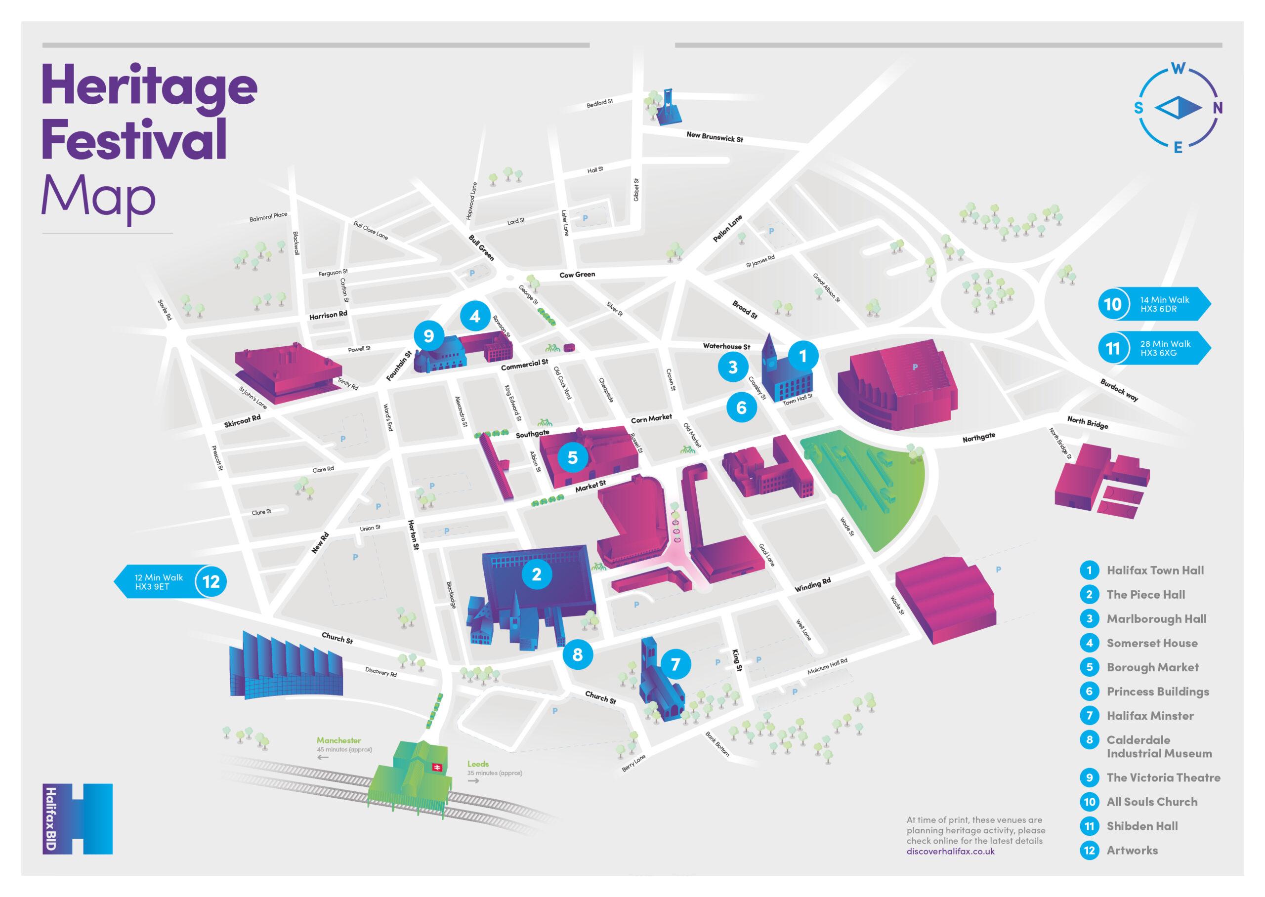 Halifax Heritage Festival Map