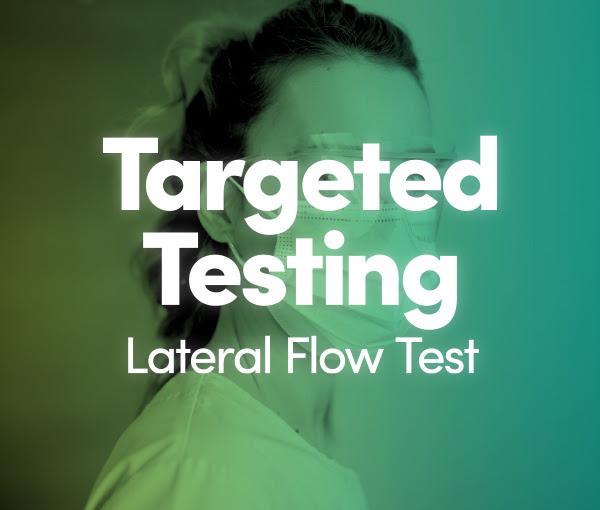 Lateral flow testing calderdale